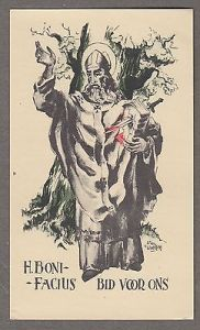 SAINT-BONIFACE-antique-holy-card