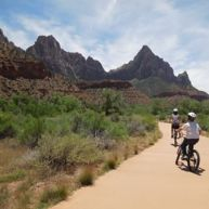 Biking at Zion National Park