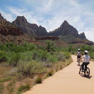 Biking at Zion National Park